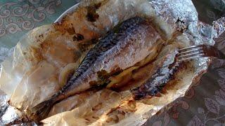Будни Дачника 8 Запекаю скумбрию на мангале вкусный рыбный рецепт от Дедовского Метода