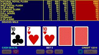 Deuces Wild Video Poker Basic Strategy
