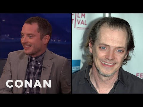 "Elijah Wood Reacts To ""Steve Buscemi With Elijah Wood's Face""  - CONAN on TBS"