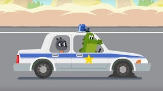 Trucks & Cars - Police Car Chase  - Cars, cars - Animation For Kids