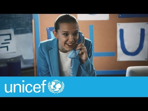 Millie Bobby Brown: Go Blue on World Children's Day | UNICEF