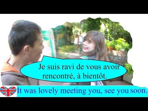 Français facile en communication - dialogue : apprendre à dire au revoir