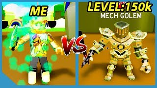 ME VS LEVEL 150,000 MAX BOSS - ROBLOX SLAYING SIMULATOR