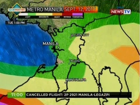 NTG: Weather update as of 11:00 a.m. (September 12, 2017)