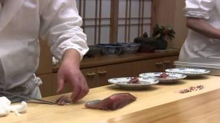 3 Michelin star sushi Araki in Tokyo