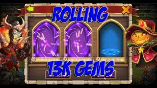 Prime Castle Clash - Rolling 13k GEMS for Valentina and more!