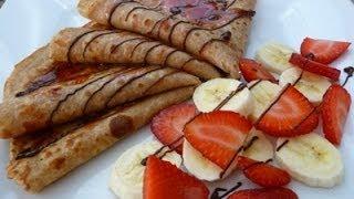 Receta Crepas Integrales, receta cocina facil