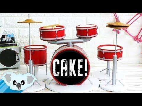 DRUM SET CAKE   Koalipops How To