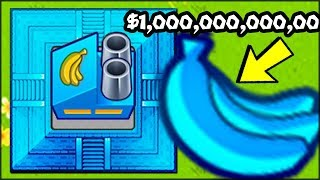 🔵🍌 THE BIGGEST BANANA EVER GIVES A LOT OF MONEY (MAX MONEY HACKER GOD in Bloons TD Battles)