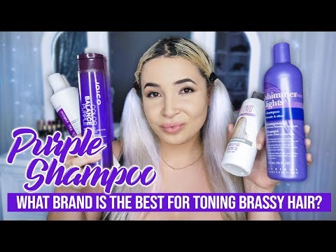 how to use shimmer lights purple shampoo