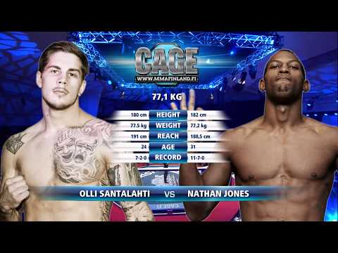 CAGE 43: Olli Santalahti vs Nathan Jones Full Fight MMA