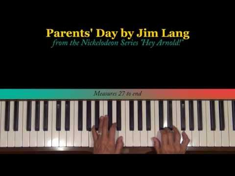 Hey Arnold Parents Day by Jim Lang Piano Tutorial