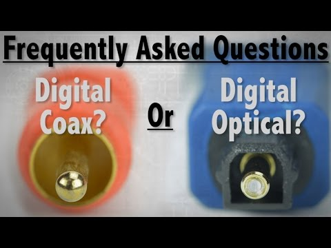 FAQ - What's The Difference Between Digital Coax and Digital Optical Audio Cables