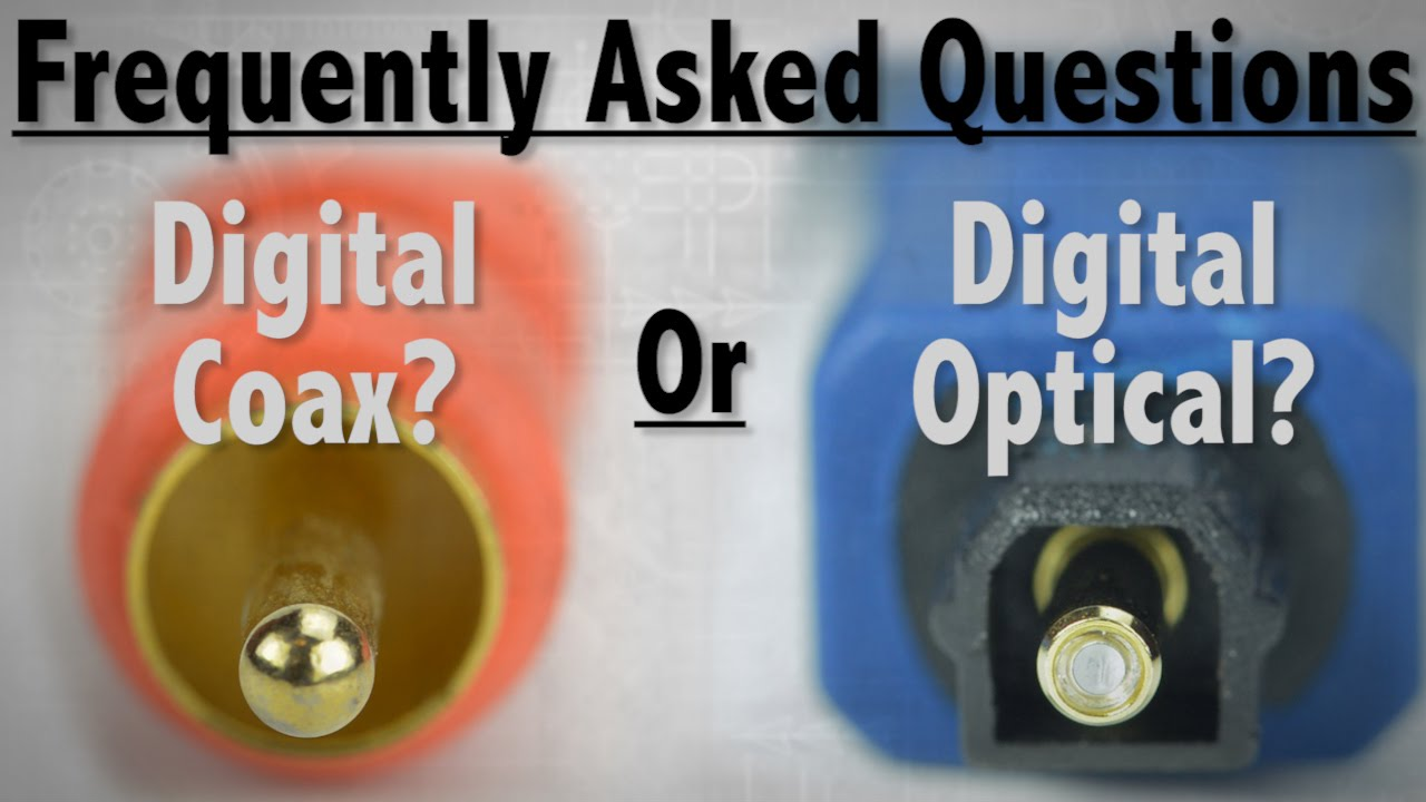 Faq Whats The Difference Between Digital Coax And Optical Cable Network Satellite Tv With A Standard Coaxial Audio Cables Youtube