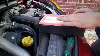 Remplacement filtre à air Renault Modus