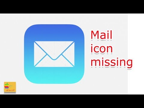 iPhone mail icon missing