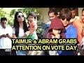 Star Kids Taimur & Abram grabs attention on VOTE DAY