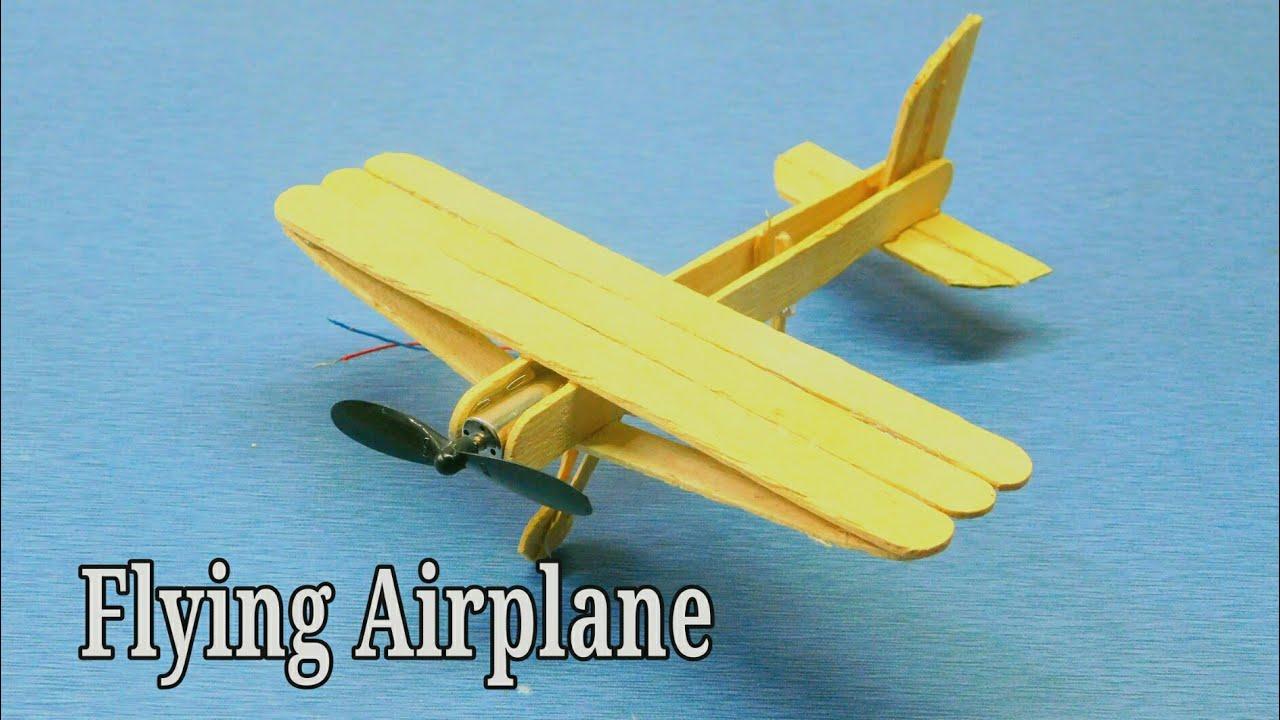 how to make a airplane at home using ice cream sticks diy craft