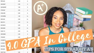 4.O GPA IN COLLEGE ~ 10 TIPS FOR STRAIGHT A'S | PRE-MED & STEM