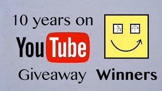 Origami Giveaway Winners (Celebrating 10 years on YouTube)