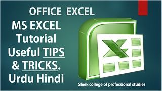 Ms Excel Tutorial 2013 Tips And Tricks In Urdu Hindi