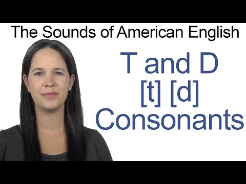 English Sounds - T [t] and D [d] Consonants - How to make the T and D Consonants