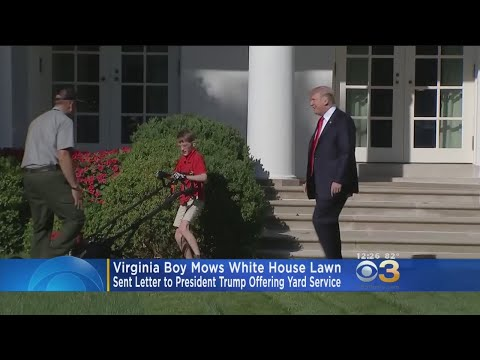 Trump Invites 11-Year-Old Boy To Mow Rose Garden Lawn