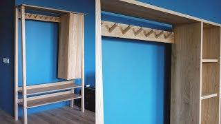 Процесс изготовление Шкафа-вешалки из дуба и ясеня