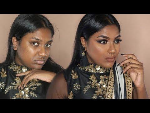 INDIAN / TAMIL GRWM : RECEPTION GUEST BLACK SMOKEY EYE MAKEUP