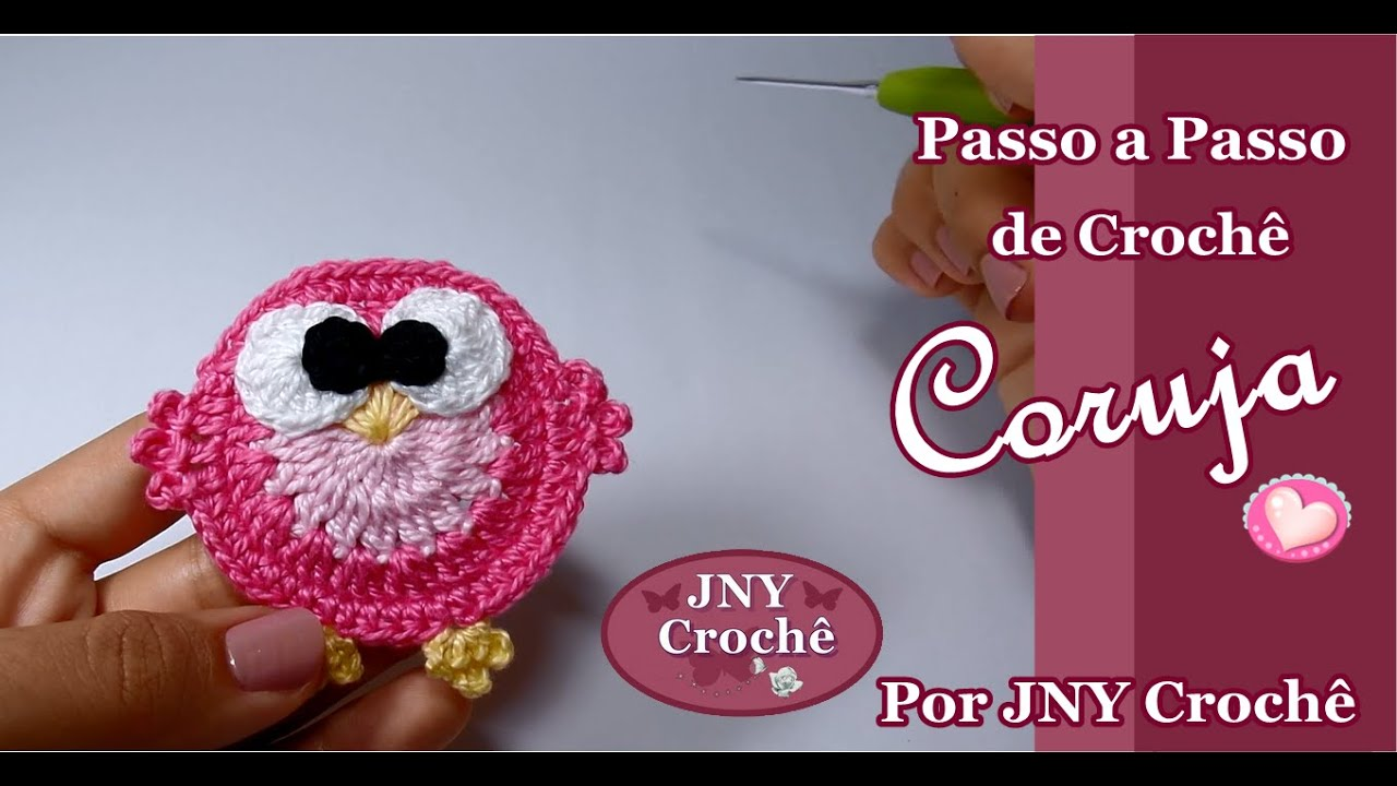 Aparador Rustico De Madeira Para Banheiro ~ Passo a Passo Coruja de Croch u00ea por JNY Croch u00ea YouTube