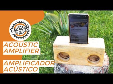 DIY# Wood acoustic amplifier for smartphone - amplificador acústico de madeira para smartphone