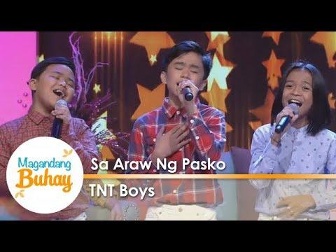 """Magandang Buhay: TNT Boys perform """"Sa Araw Ng Pasko"""""""