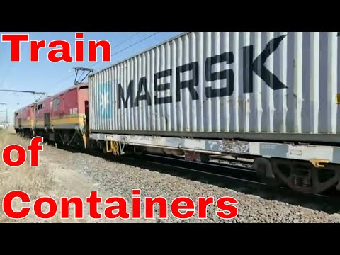 TRANSNET freight rail - Electrics: 2016 12 07 09h11 Container Train arrives at Bellville