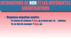 Prononciation/ Intonation  de oui et non  en français
