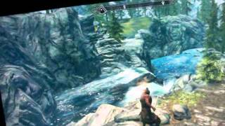 CYBERPOWER GAMING PC RUNNING SKYRIM ON 32 INCH LCD 1080 P