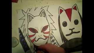 how to draw ANBU itachi and kakashi
