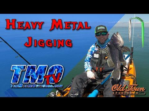 Jigging Heavy Metals Kayak Fishing - Teaser