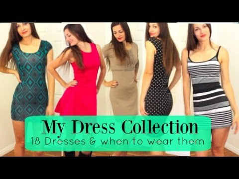 18 Sexy Dresses LOOKBOOK + When To Wear Them/ MY Summer Dress Collection!