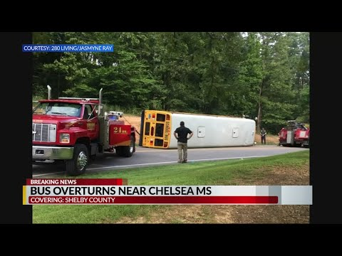 Shelby County school bus overturns in Chelsea