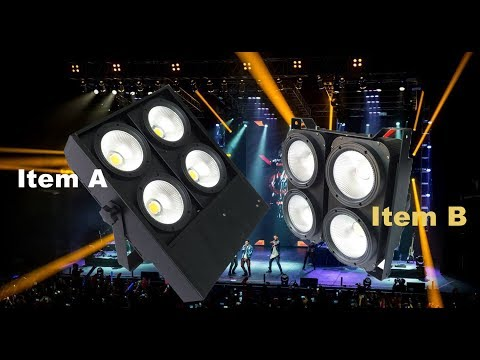 Dmx stage light cob 4x100w warm white cool white warm and cool white 2in1 led audience blinders