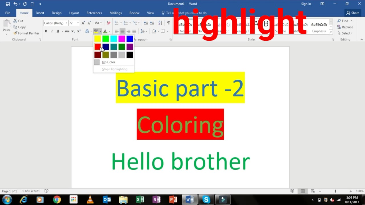 Background color microsoft word 2016 coloring page for Word change page background color
