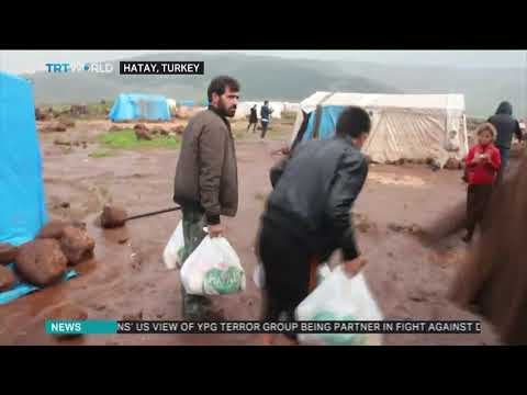 Turkish aid agency distributes supplies to Syrian refugees in Hatay