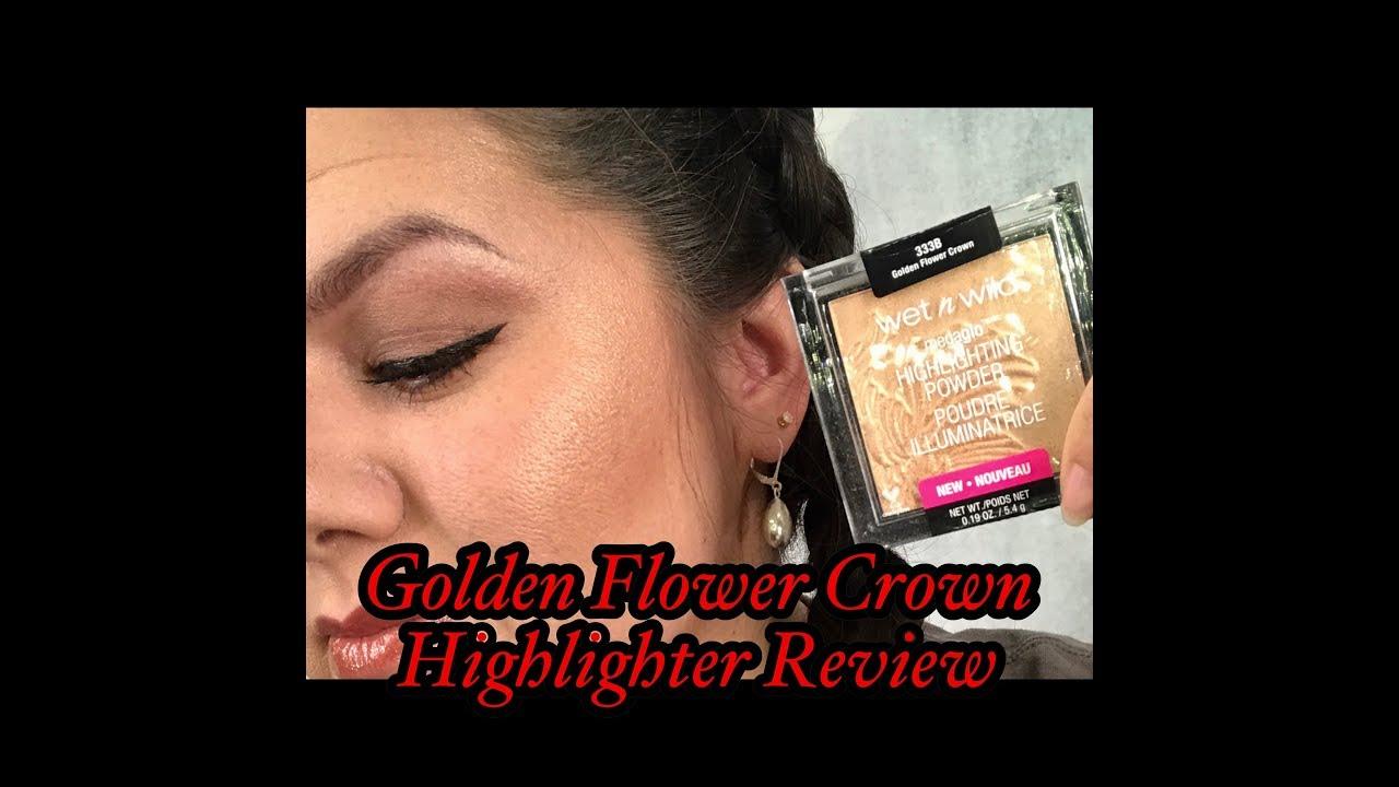 Megaglow golden flower crown by wet n wild youtube megaglow golden flower crown by wet n wild izmirmasajfo