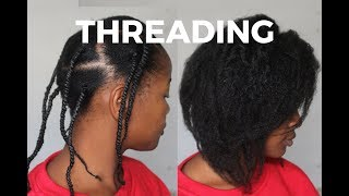 African Threading for Stretching Natural Hair