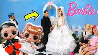 Barbie Doll LOL  Wedding with Supreme Bffs Surprise Get Married !
