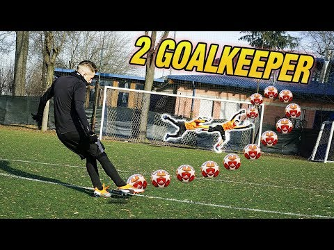 I2BOMBER VS 2 GOALKEEPER - Free Kick Battle