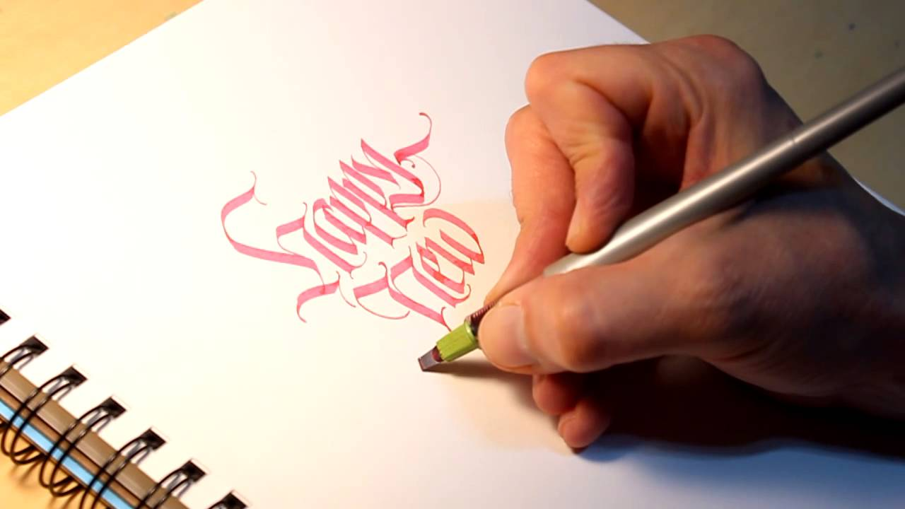 Parallel Pen Calligraphy Happy New Year Youtube
