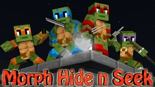 Minecraft Mods | MORPH HIDE AND SEEK - TEENAGE MUTANT NINJA TURTLES!