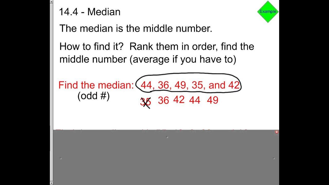 Find The Median Of Data Set