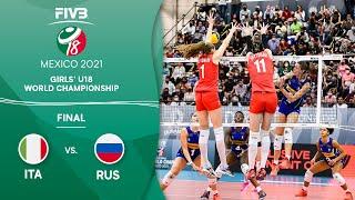 LIVE 🔴 RUS vs. ITA - FINAL | Girls U18 Volleyball World Champs 2021